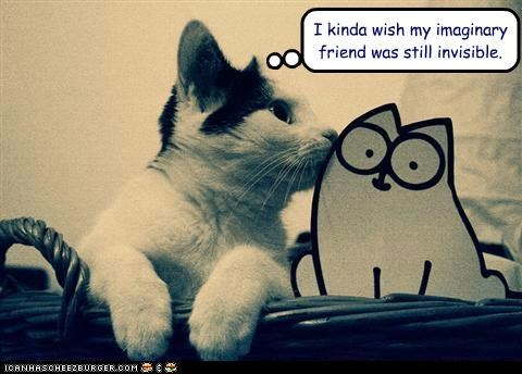 caption,captioned,cat,friend,friends,friendship,imaginary,invisible,kitten,simons-cat,still,wish
