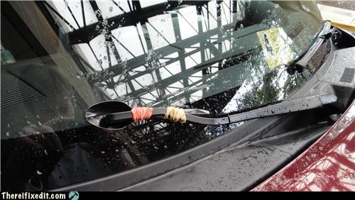 dual use,spoon,windshield wiper