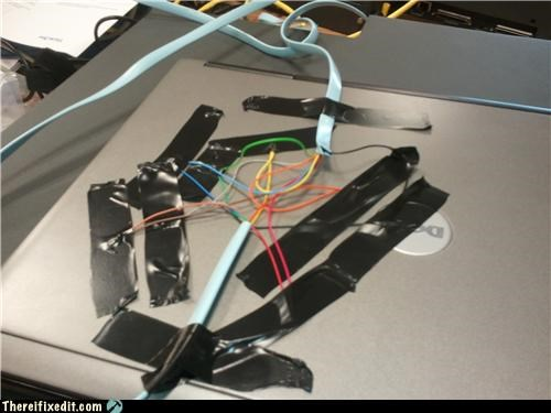 cables,computer repair,laptop,tape