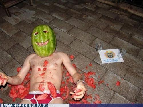 fruit,head,mask,watermelon
