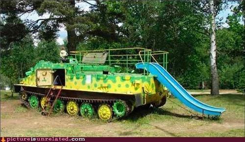 park,slide,tank,wtf