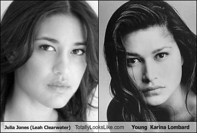 Julia Jones (Leah Clearwater) Totally Looks Like Young  Karina Lombard