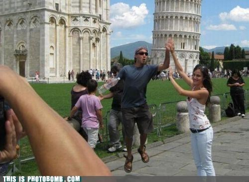 awesome,bro,interrupt,Italy,leaning tower of pisa