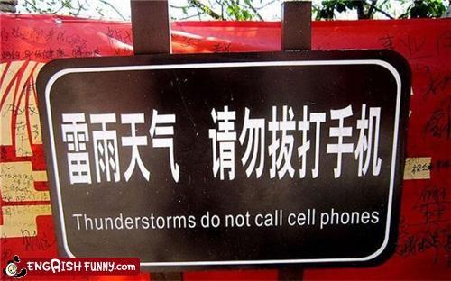 cell phones,thunderstorm,warning