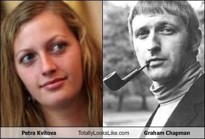 actors,athlete,british comedy,comedian,graham chapman,monty python,Petra Kvitova,tennis