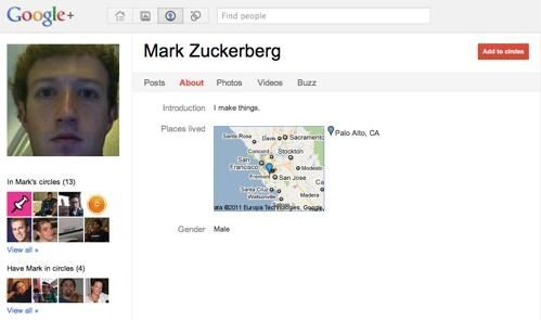 Celebrity Google+ Account of the Day