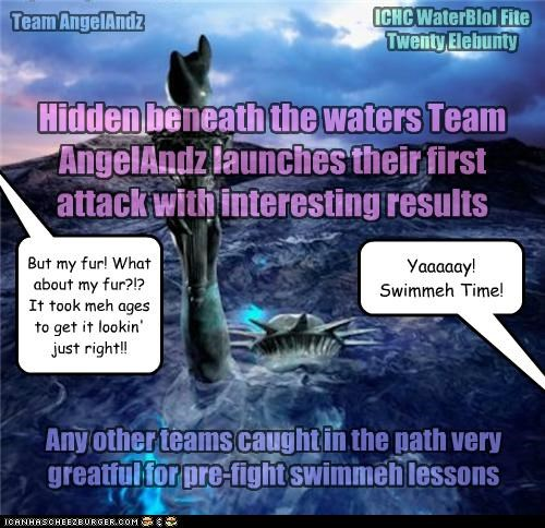 Hidden beneath the waters Team AngelAndz launches their first attack with interesting results