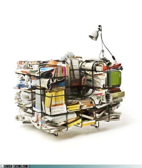 books,chair,frame,metal