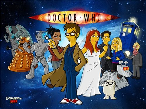 Simpsons-Style Doctor Who Art of the Day