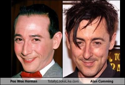 Pee Wee Herman (Paul Reubens) Totally Looks Like Alan Cumming