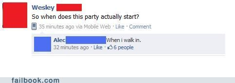 The Party Don't Start Till...