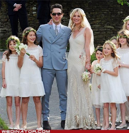 celebrity weddings,funny wedding photos,Kate Moss
