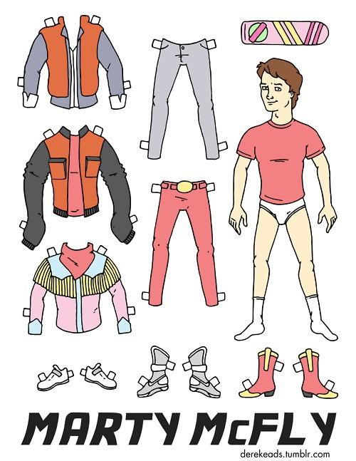 Marty McFly Paper Doll of the Day