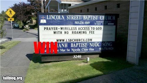 Church Sign Win