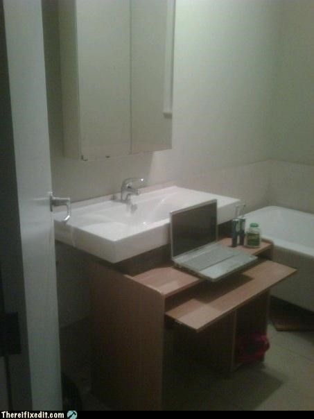 bathroom,desk,dual use,ikea