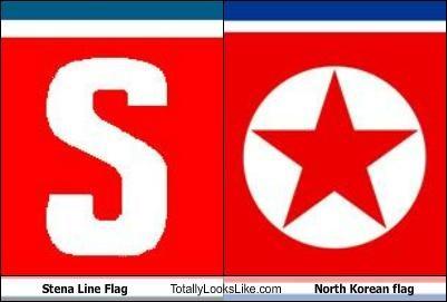 Stena Line Flag Totally Looks Like North Korean flag