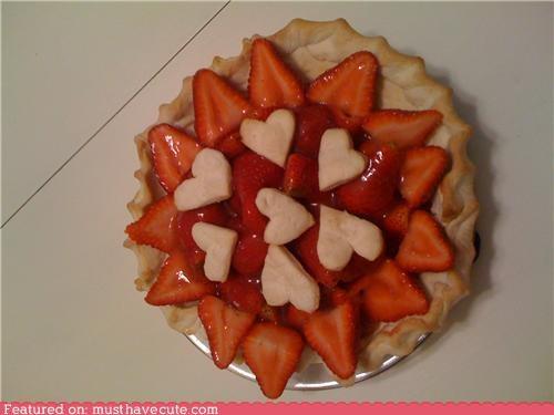 epicute,hearts,pie,strawberry,tart