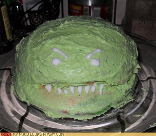 cake,face,green,monster