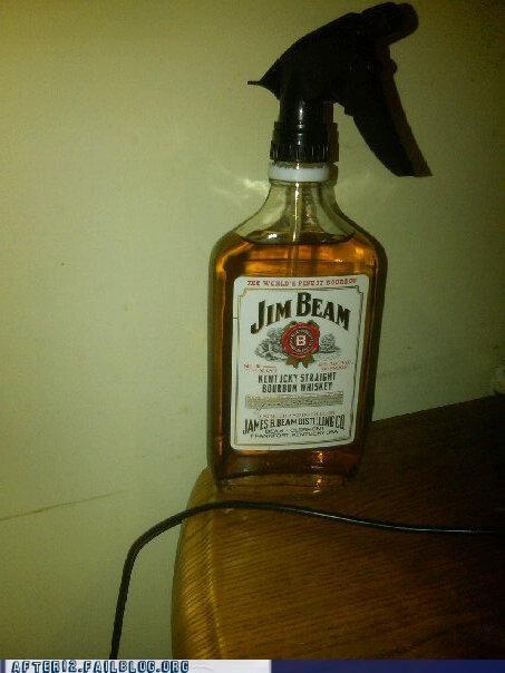 jim beam,liquor,nozzle,spray bottle,whiskey