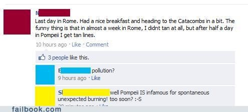 Burning in Pompeii