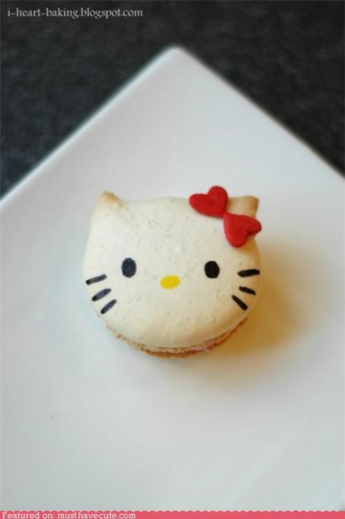 cookies,french,hello kitty,macaron,pastry