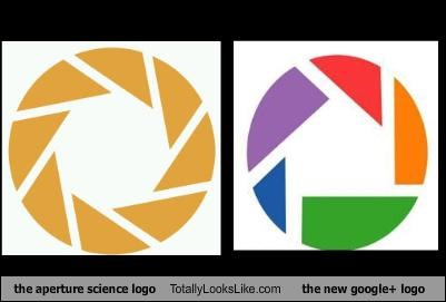 The Aperture Science Logo Totally Looks Like The New Google+ Logo
