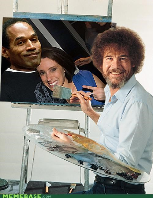 bob ross,Casey Anthony,hell,match,Memes,murder,oj simpson,trials