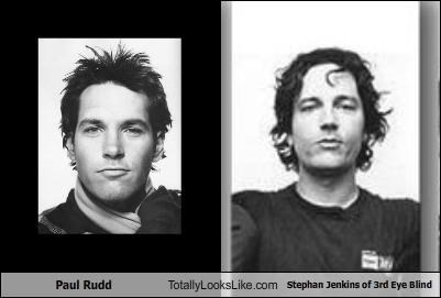 TLL Classics: Actor Paul Rudd Totally Looks Like Stephan Jenkins of 3rd Eye Blind