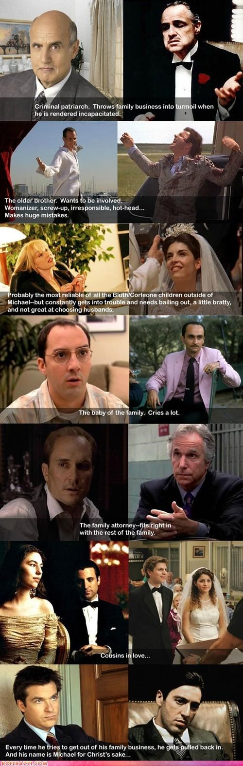 arrested development,comparison,formula,funny,Hall of Fame,the godfather