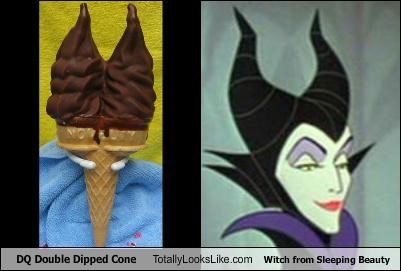 "DQ Double Dipped Cone Totally Looks Like Witch From Disney's ""Sleeping Beauty"""