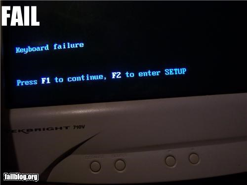 Keyboard Failure FAIL