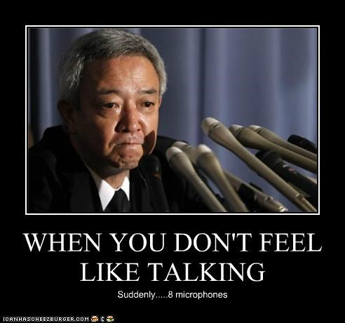 WHEN YOU DON'T FEEL LIKE TALKING