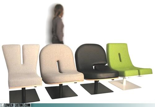 Typographic Chairs