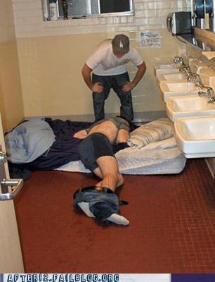 bathroom,mattress,prank