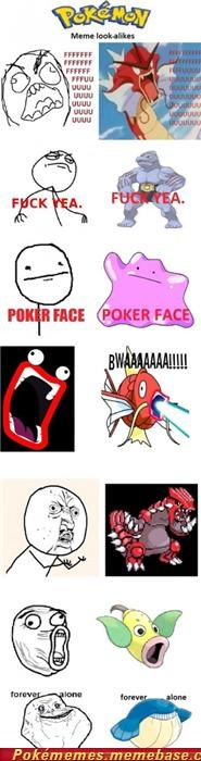 Pokémon in Rage Comics
