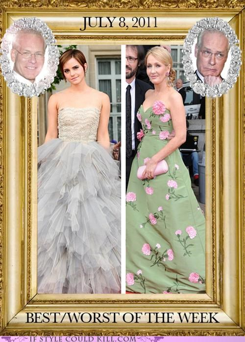 bestworst-of-the-week,celeb,cool accessories,emma watson,fashion,Harry Potter,red carpet,Tim Gunn