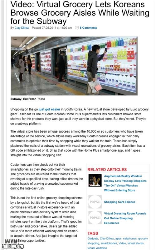 completely relevant news,grcoeries,mass transit,shopping,subaru,virtual