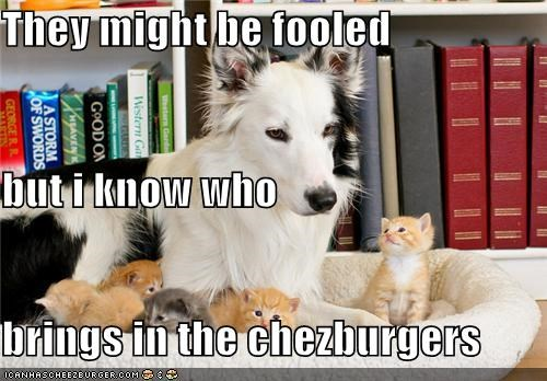 They might be fooled but i know who brings in the chezburgers
