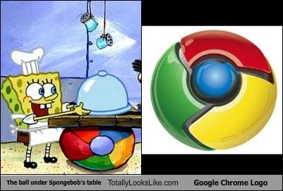 The Ball Under Spongebob's Table Totally Looks Like Google Chrome Logo