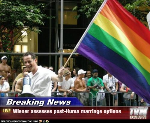 Breaking News - Wiener assesses post-Huma marriage options
