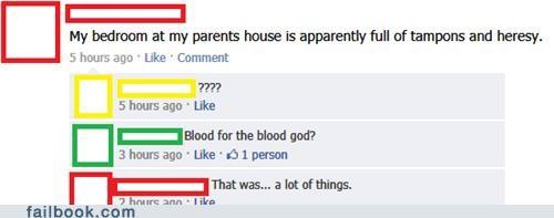 tampons,menstruation,heresy