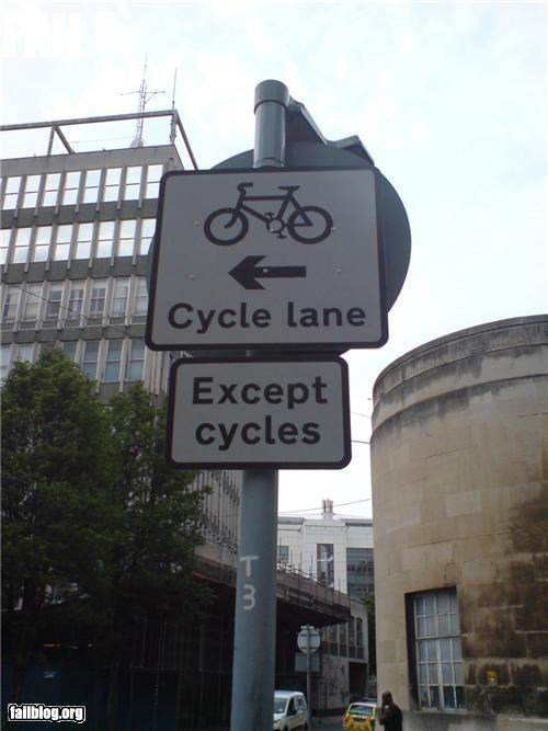 bicycles,confusing,failboat,g rated,oddly specific,road signs,signs