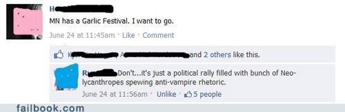 garlic,politics,witty reply
