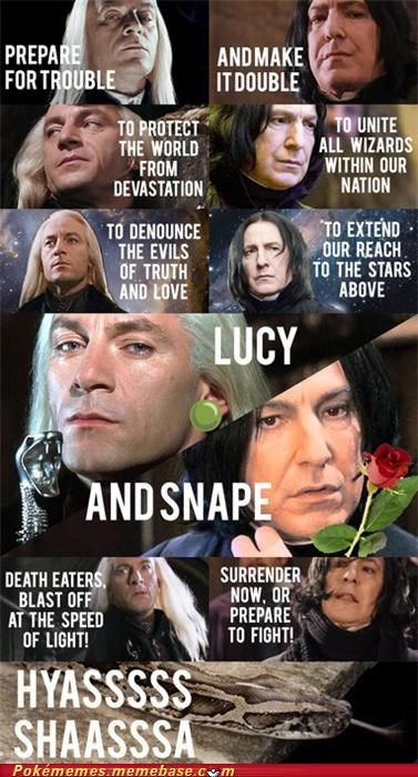 Lucy. And Snape. Blast Off at the Speed of Light