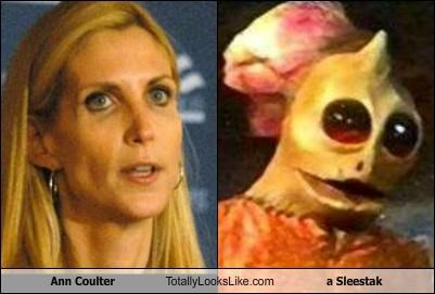 Ann Coulter Totally Looks Like a Sleestak