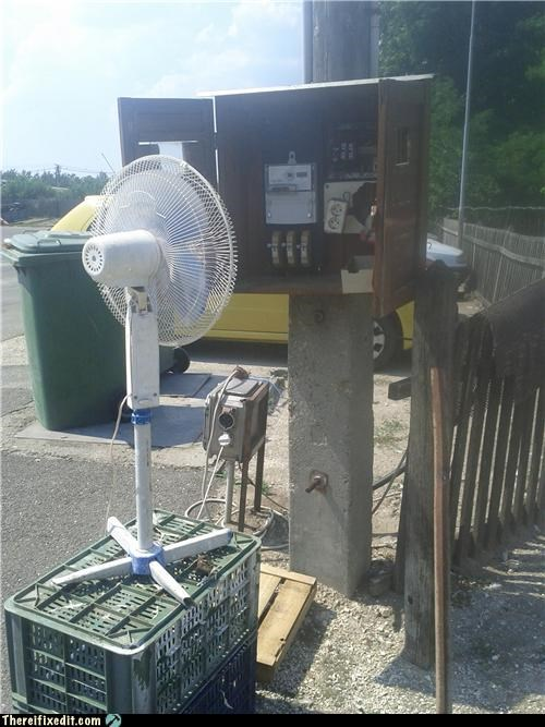 fan,overheating,Professional At Work,safety first