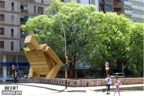 box,giant,hacked irl,robot,sculpture