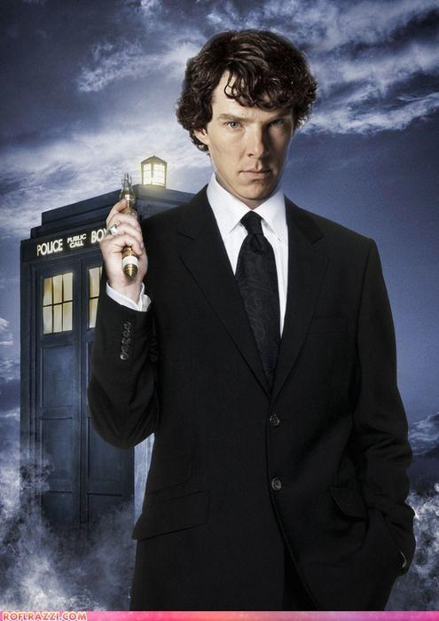actor,benedict cumberbatch,celeb,doctor who,fake,funny,sci fi,sherlock holmes,shoop