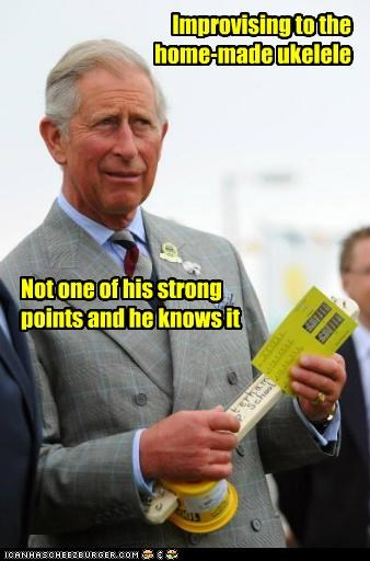 political pictures,prince charles,ukelele