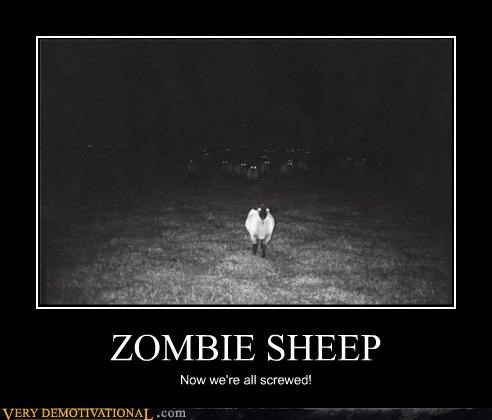 hilarious,screwed,zombie sheep